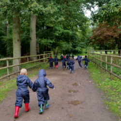 Early Years trip to the woods