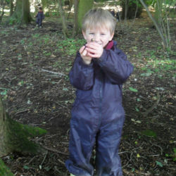 EYFS trip into the woods