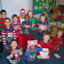 A festive feast followed by a very special visitor!